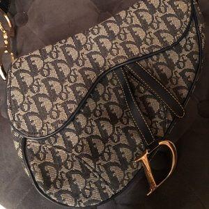 Authentic Monogram Dior Saddle bag